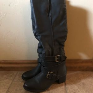 Shoes - Target black buckle boots